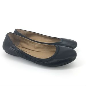 Lucky Brand 6.5 M Flats Black Leather Erin